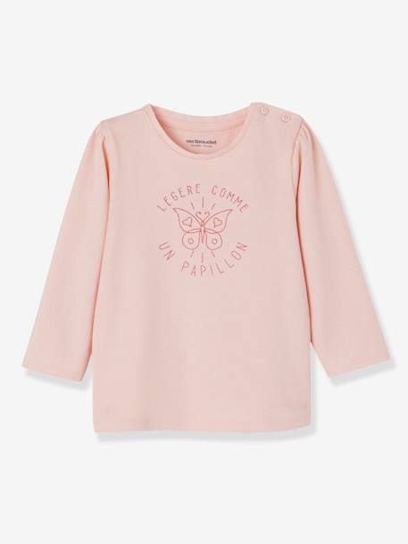 Lot de 2 T-shirts message bébé fille LOT BLANC+LOT FUCHSIA+LOT MARINE GRISE+LOT ROSE PALE 19 - vertbaudet enfant