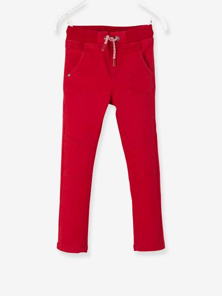 Pantalon slim garçon tour de hanches MEDIUM Marine+Rouge 6 - vertbaudet enfant