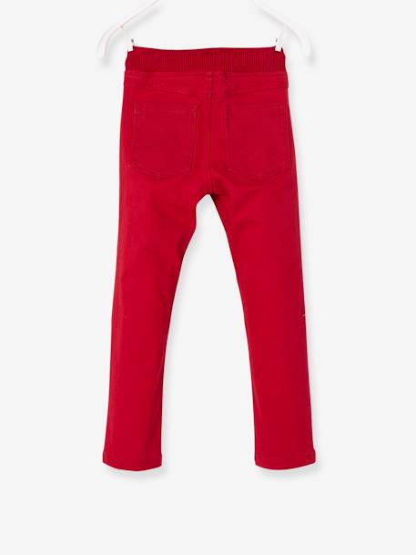 Pantalon slim garçon tour de hanches MEDIUM Marine+Rouge 8 - vertbaudet enfant
