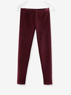 Fille-Legging fille en velours