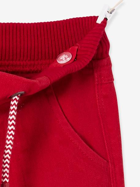 Pantalon slim garçon tour de hanches MEDIUM Marine+Rouge 9 - vertbaudet enfant