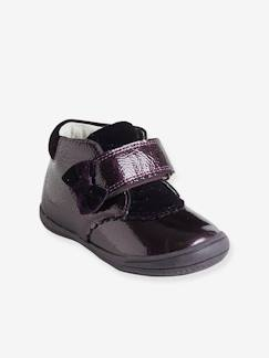 Hiver-Chaussures-Bottines cuir vernies fille scratchées