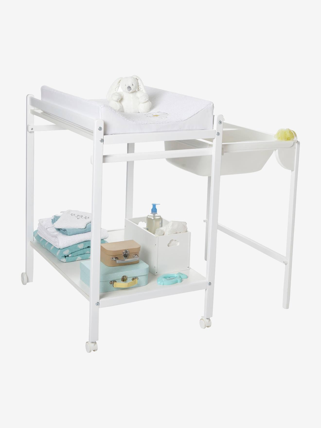 Table À Langer Petite table à langer avec baignoire intégrée vertbaudet magictub blanc -  vertbaudet