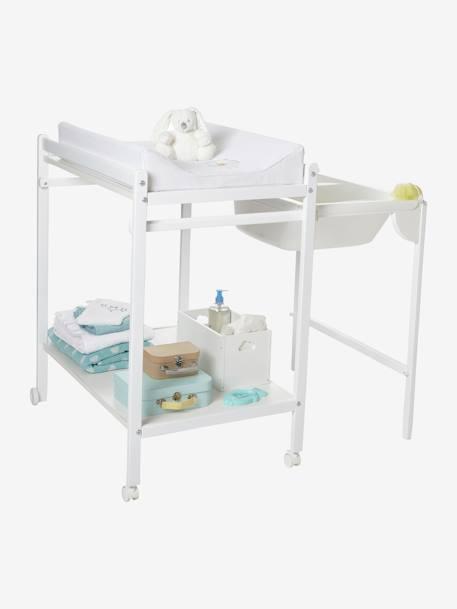 Table à langer avec baignoire intégrée VERTBAUDET MagicTub blanc -  Vertbaudet
