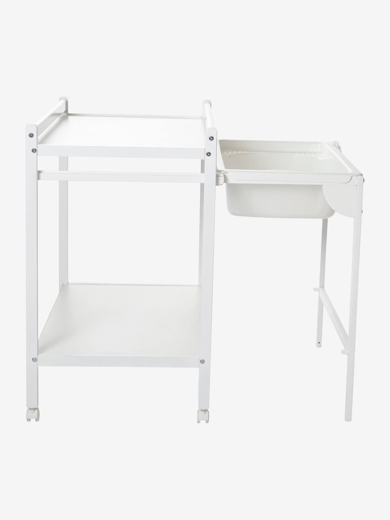 Table A Langer Avec Baignoire Integree Vertbaudet Magictub Naturel Blanc Vertbaudet
