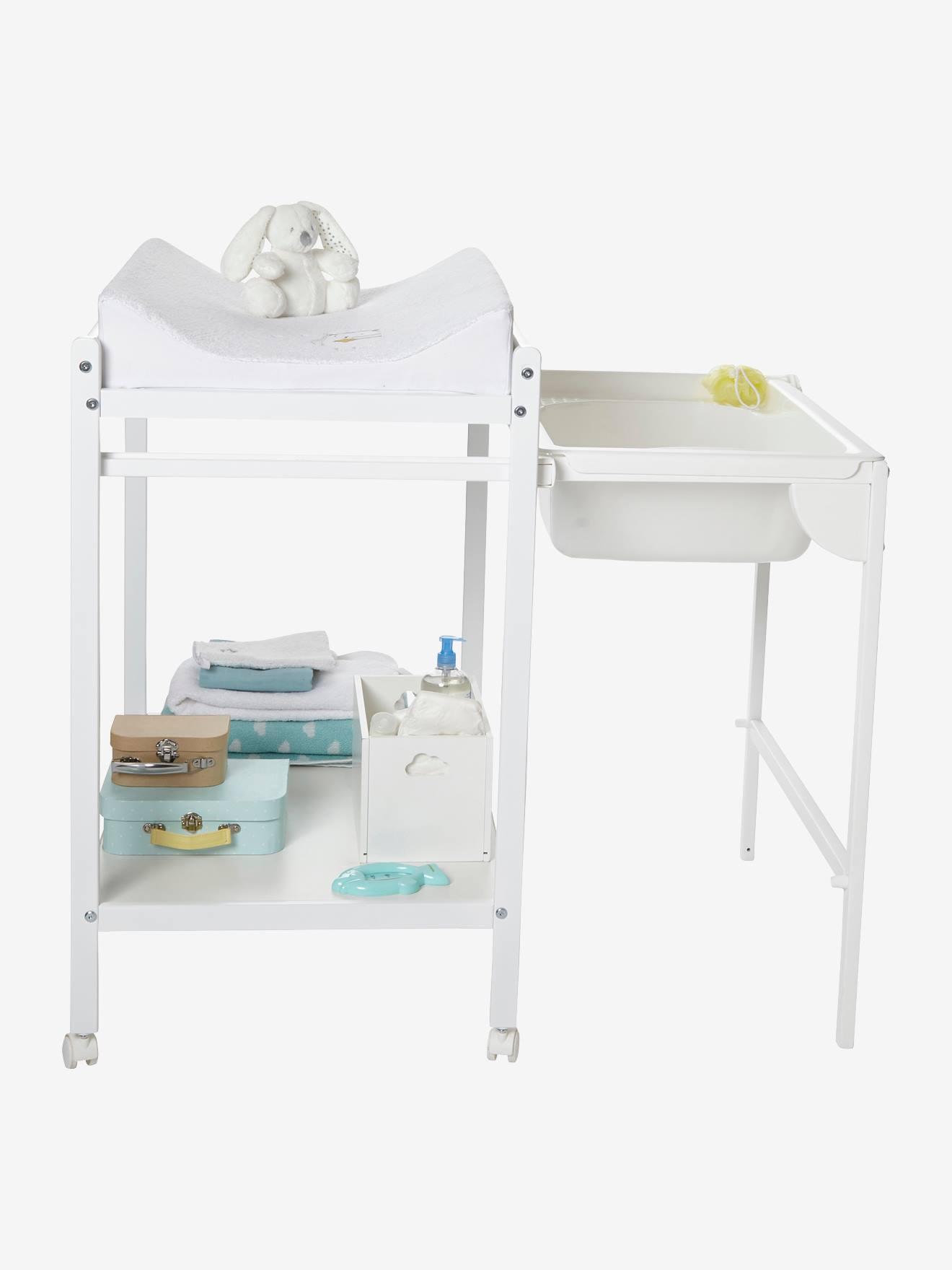 b9d2414487116 Table à langer avec baignoire intégrée VERTBAUDET MagicTub naturel blanc -  Vertbaudet