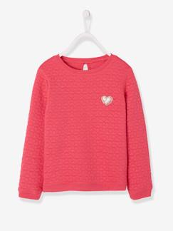 Toutes les collections vertbaudet-Sweat fille molleton texturé