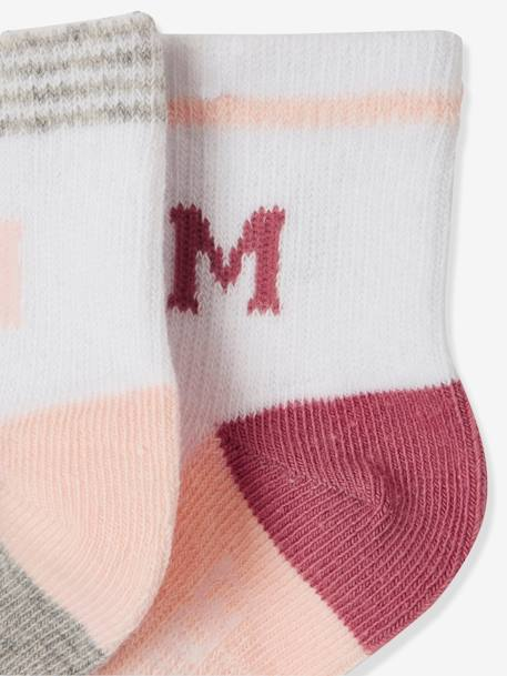 Lot de 5 paires de chaussettes sport fille LOT ROSE PALE 2 - vertbaudet enfant