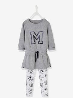 Fille-Robe-Ensemble sport fille robe molleton + legging