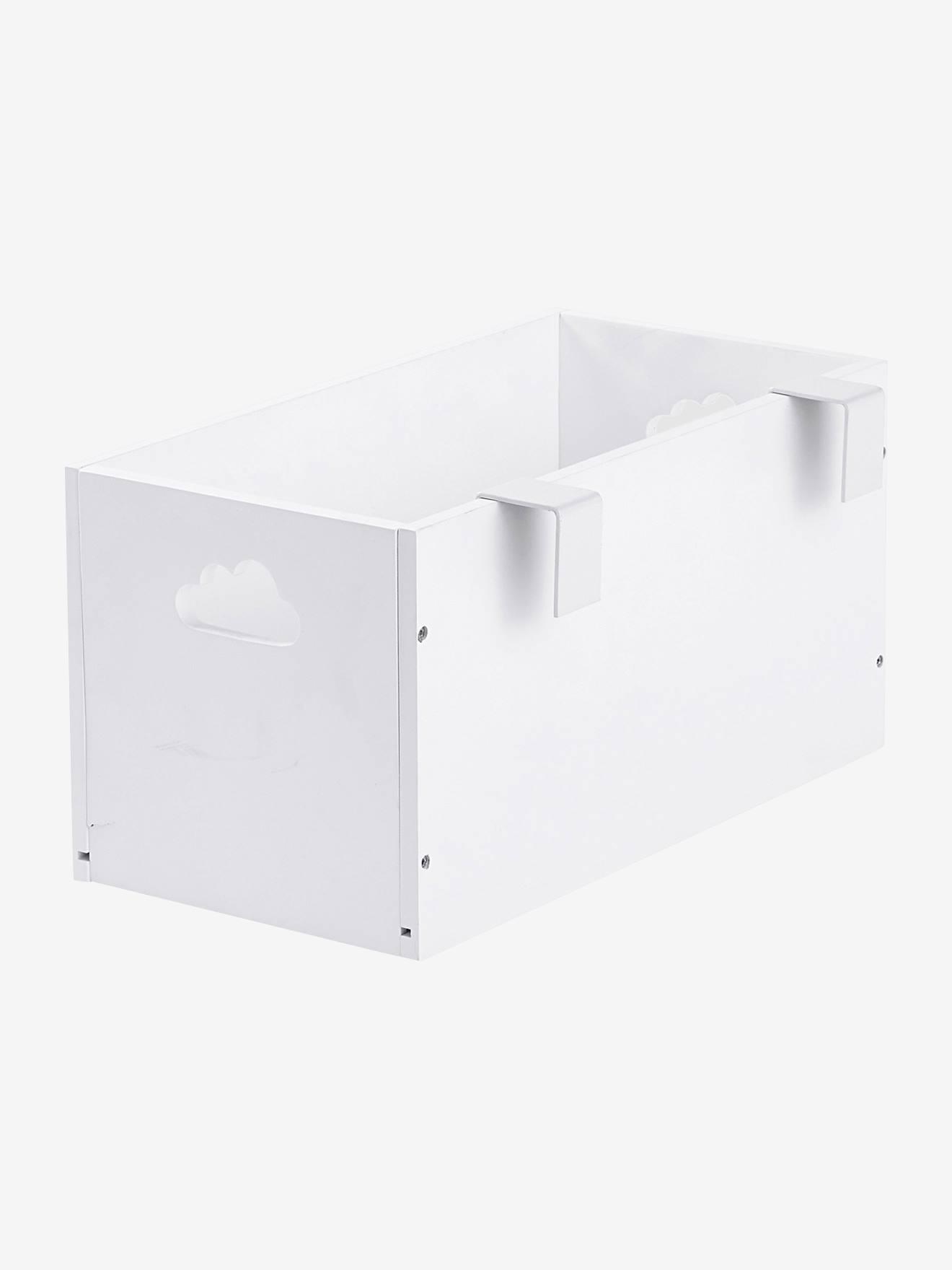 Boîte de rangement spéciale table à langer blanc