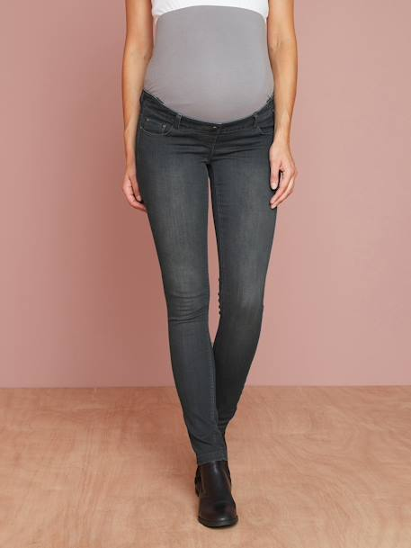 Jean slim stretch de grossesse entrejambe 85 Denim black+Denim brut+Denim gris+Denim stone+TRIPLE STONE 18 - vertbaudet enfant