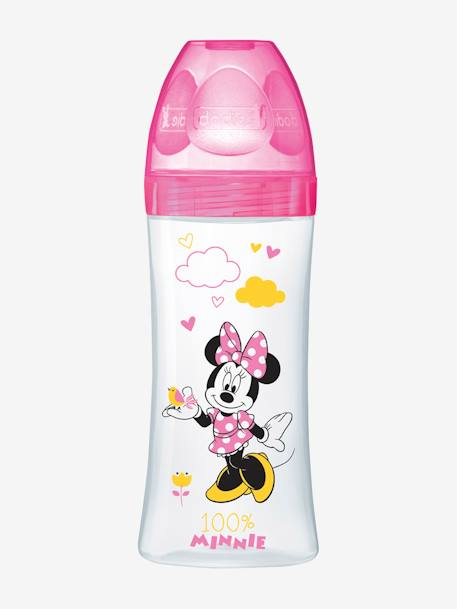 Biberon 330 ml tétine ronde Dodie Initiation+ - débit 3 BLEU MICKEY+ROSE MINNIE 8 - vertbaudet enfant