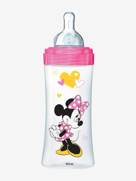 Biberon 330 ml tétine ronde Dodie Initiation+ - débit 3 BLEU MICKEY+ROSE MINNIE 7 - vertbaudet enfant