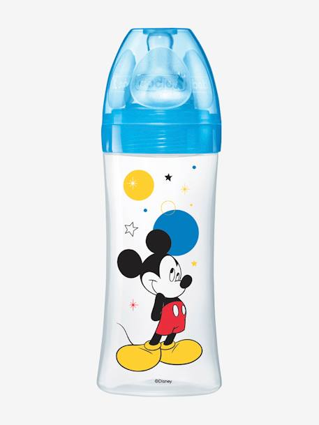 Biberon 330 ml tétine ronde Dodie Initiation+ - débit 3 BLEU MICKEY+ROSE MINNIE 1 - vertbaudet enfant