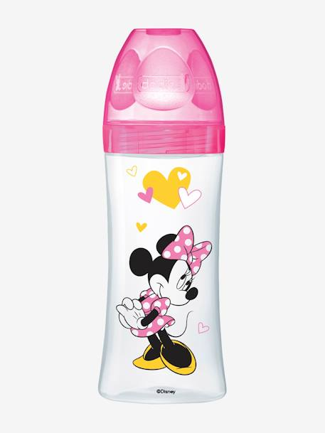 Biberon 330 ml tétine ronde Dodie Initiation+ - débit 3 BLEU MICKEY+ROSE MINNIE 5 - vertbaudet enfant