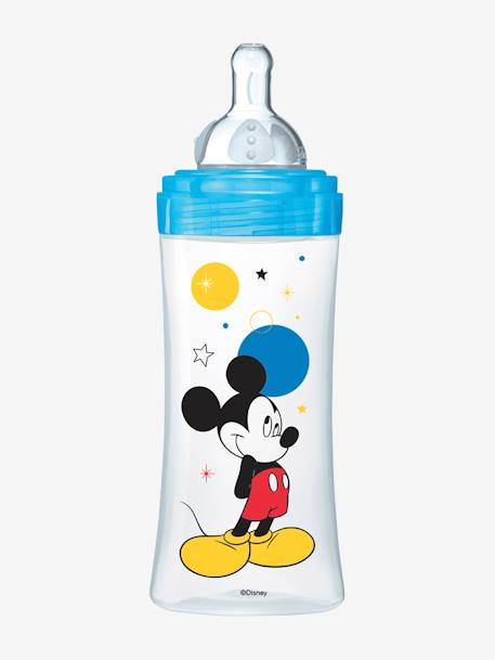 Biberon 330 ml tétine ronde Dodie Initiation+ - débit 3 BLEU MICKEY+ROSE MINNIE 3 - vertbaudet enfant