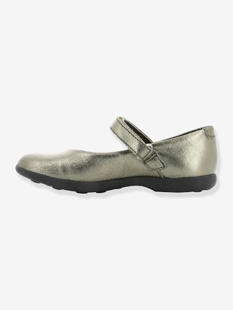 Babies fille Ambellie KICKERS® BRONZE METALLIQUE+MARINE METALLIQUE 3 - vertbaudet enfant