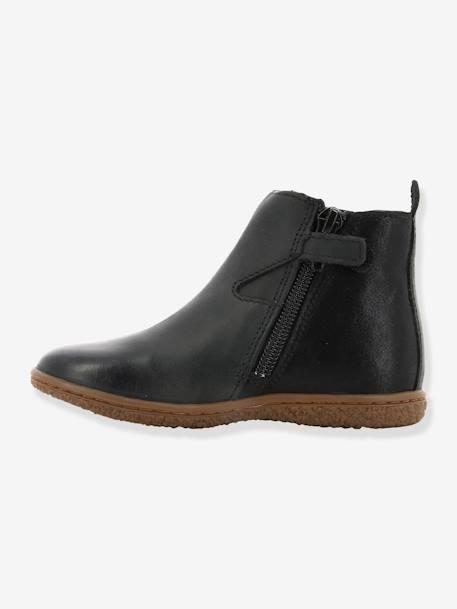 f3291ddcdc057 Boots fille Vermillon KICKERS® MARINE+Noir 16 - vertbaudet enfant