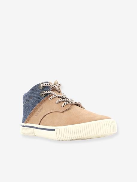 e3572f5c179a Baskets Sneakers hautes garçon Posture KICKERS® CAMEL DENIM+MARINE DENIM 1  - vertbaudet enfant