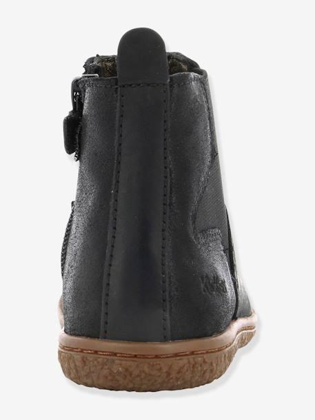 c35bc03ec2f22 Boots fille Vermillon KICKERS® MARINE+Noir 19 - vertbaudet enfant