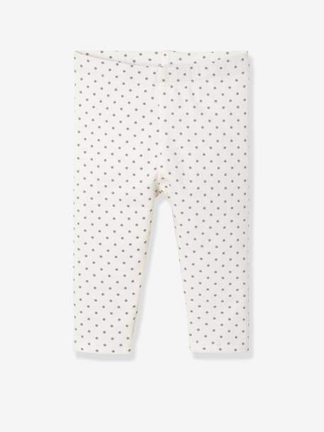 Lot de 2 leggings longs bébé fille LOT ANTHRACITE + POIS+LOT FRAMBOISE + POIS+LOT IVOIRE+Lot marine grisé+Lot noir+LOT NOIR+POIS+Lot rose+LOT ROSE PALE 24 - vertbaudet enfant
