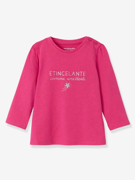 Lot de 2 T-shirts message bébé fille LOT BLANC+LOT FUCHSIA+LOT MARINE GRISE+LOT ROSE PALE 7 - vertbaudet enfant