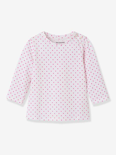 Lot de 2 T-shirts message bébé fille LOT BLANC+LOT FUCHSIA+LOT MARINE GRISE+LOT ROSE PALE 8 - vertbaudet enfant