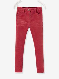 Fille-Pantalon slim fille en velours tour de hanches MEDIUM