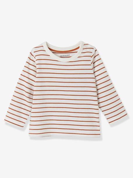 Lot de 2 T-shirts bébé garçon manches longues LOT CARAMEL+Lot jaune moutarde+LOT MARINE GRISE+Lot Rouge 3 - vertbaudet enfant