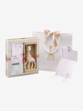 Coffret naissance Sophie la girafe VULLI beige