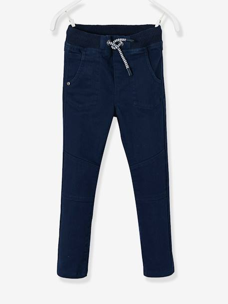 Pantalon slim garçon tour de hanches MEDIUM Marine 1 - vertbaudet enfant