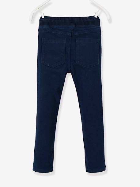 Pantalon slim garçon tour de hanches MEDIUM Marine 2 - vertbaudet enfant