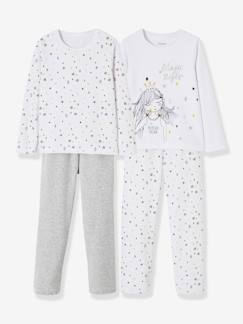 Fille-Lot de 2 pyjamas velours fille combinables