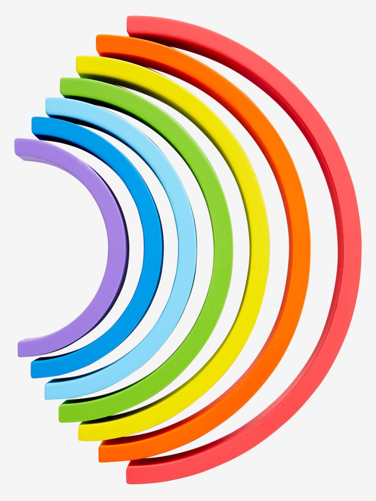 Multicolore Puzzle Vertbaudet En Bois Arc Ciel 4R3j5LAq