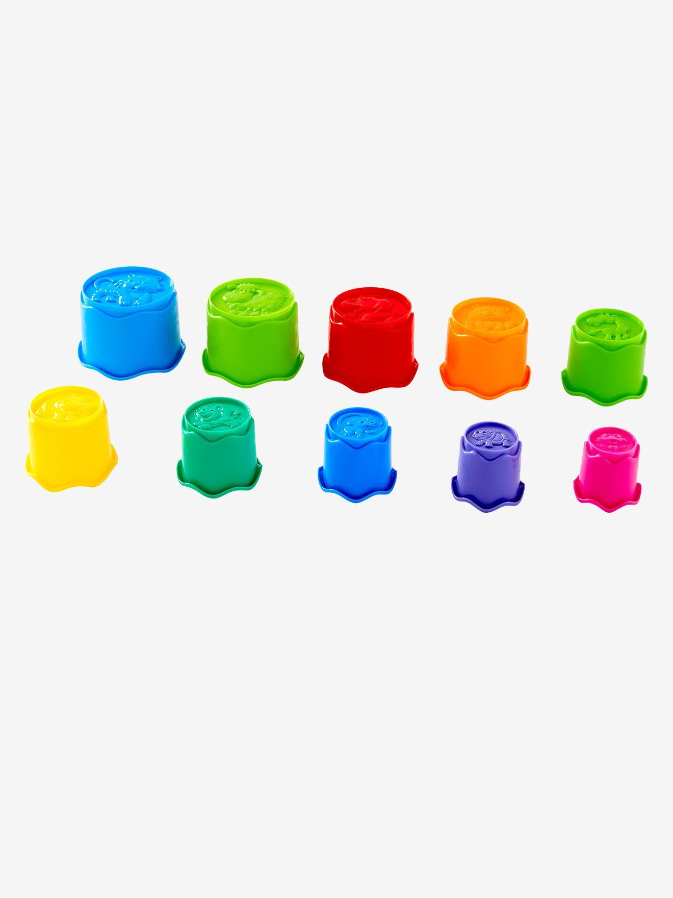 Gobelets en plastique à empiler multicolore Vertbaudet