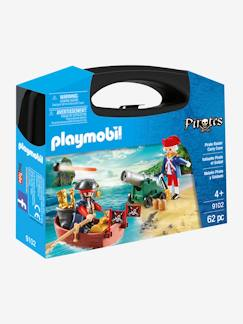 Jouet-Figurines et mondes imaginaires-9102 Valisette pirate et soldat Playmobil