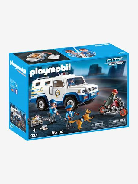 9371 Fourgon Blinde Avec Convoyeur De Fonds Playmobil Blanc Playmobil