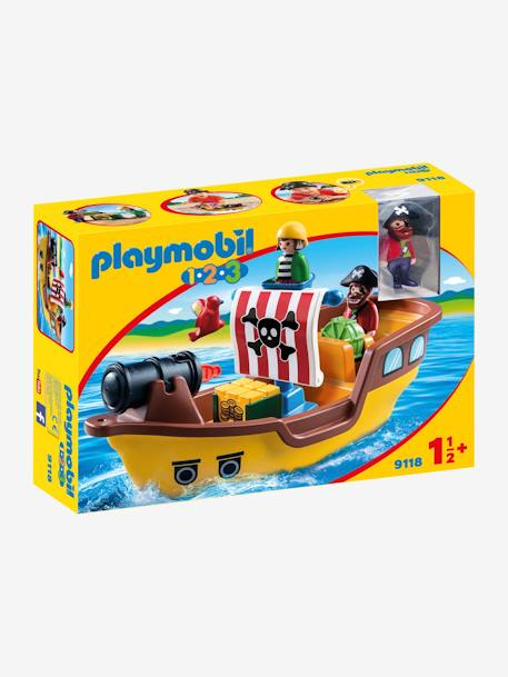 9118 Bateau de pirates 123 Playmobil MARRON 1 - vertbaudet enfant