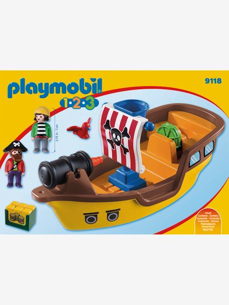 9118 Bateau de pirates 123 Playmobil MARRON 2 - vertbaudet enfant