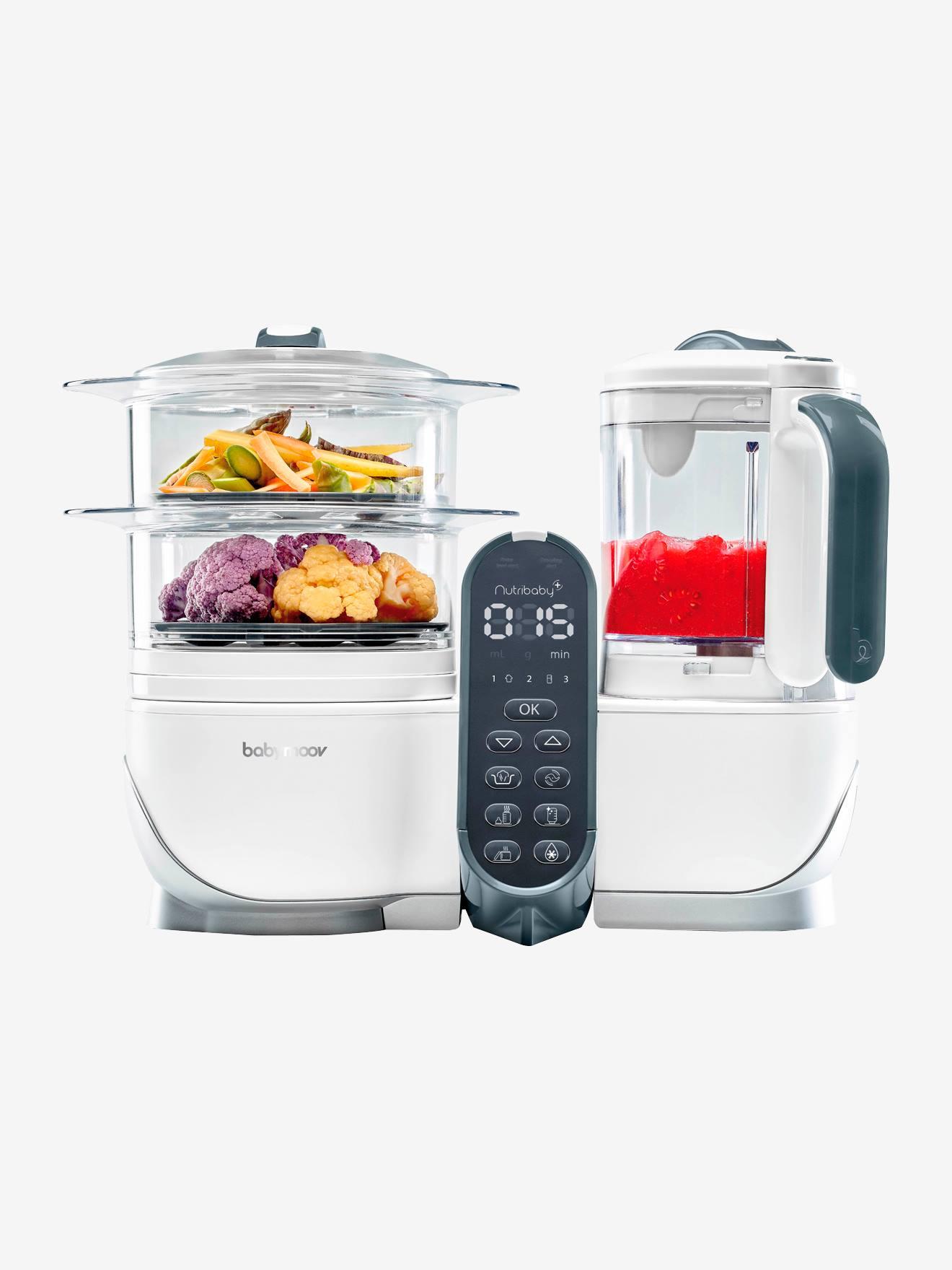 Robot multifonction BABYMOOV Nutribaby+ Préparateur culinaire cuiseur et mixeur blanc