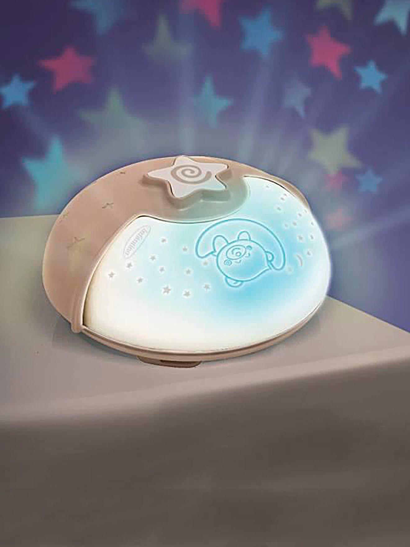 Veilleuse projecteur 3 en 1 évolutive INFANTINO Projecto lampe taupe/blanc