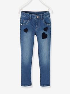 Fille-Pantalon-Jean droit fille tour de hanches LARGE