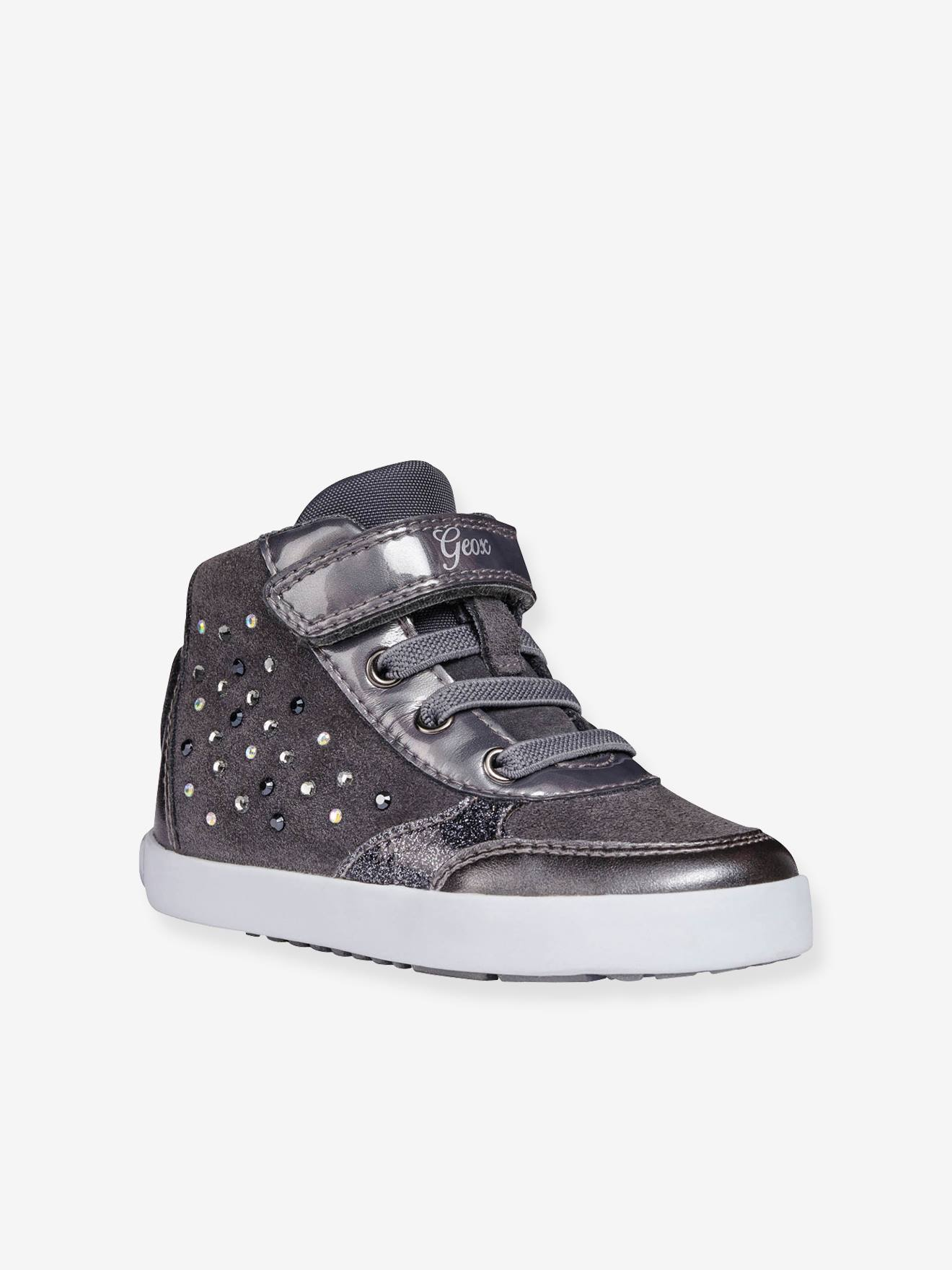 Baskets bébé fille Kilwi Girl High GEOX® gris Geox