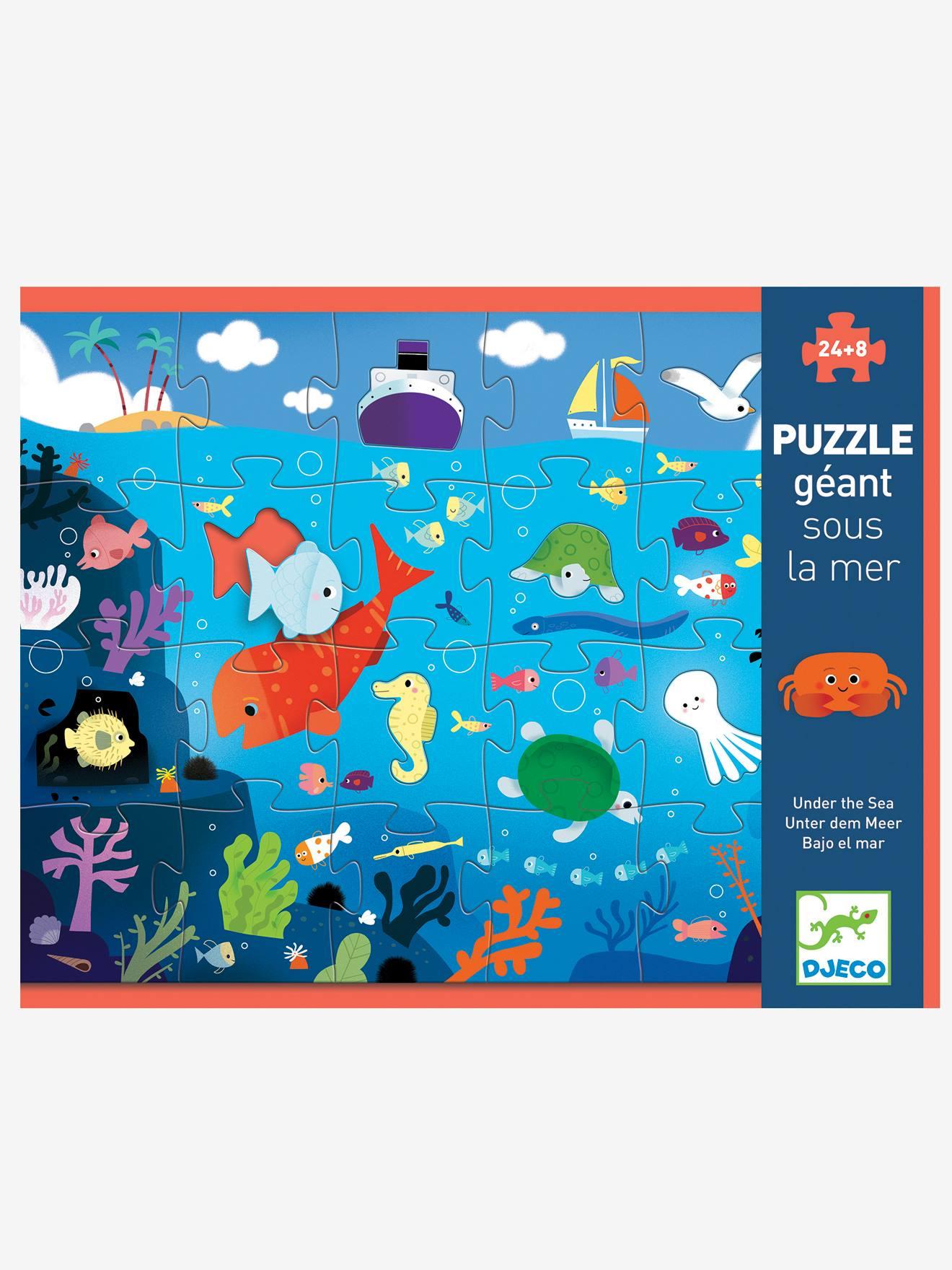 Puzzle géant Sous la mer 24 pièces DJECO multicolore