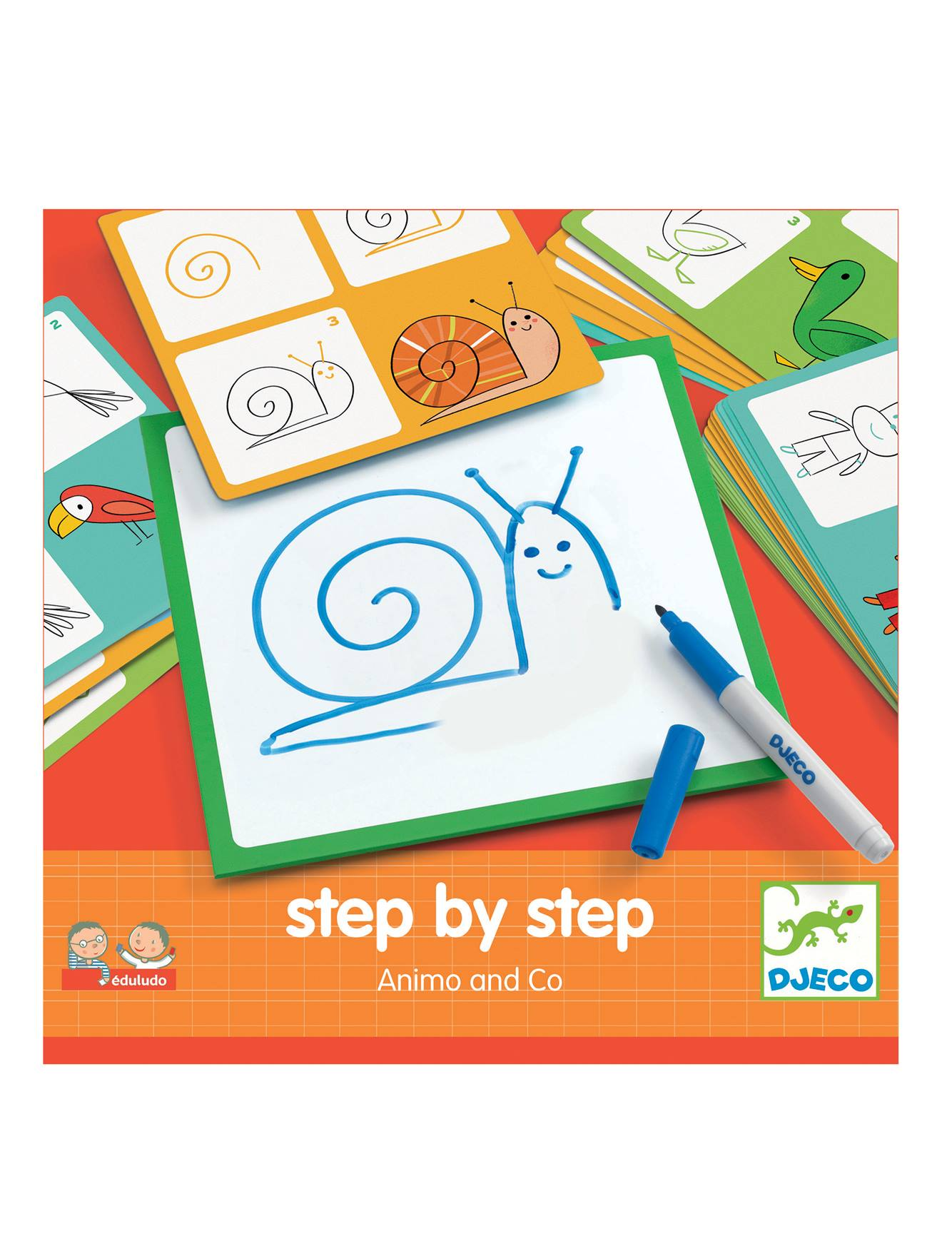 Step by step Animals DJECO multicolore