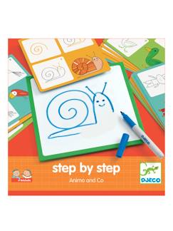 Jouet-Loisirs créatifs-Step by step Animals DJECO