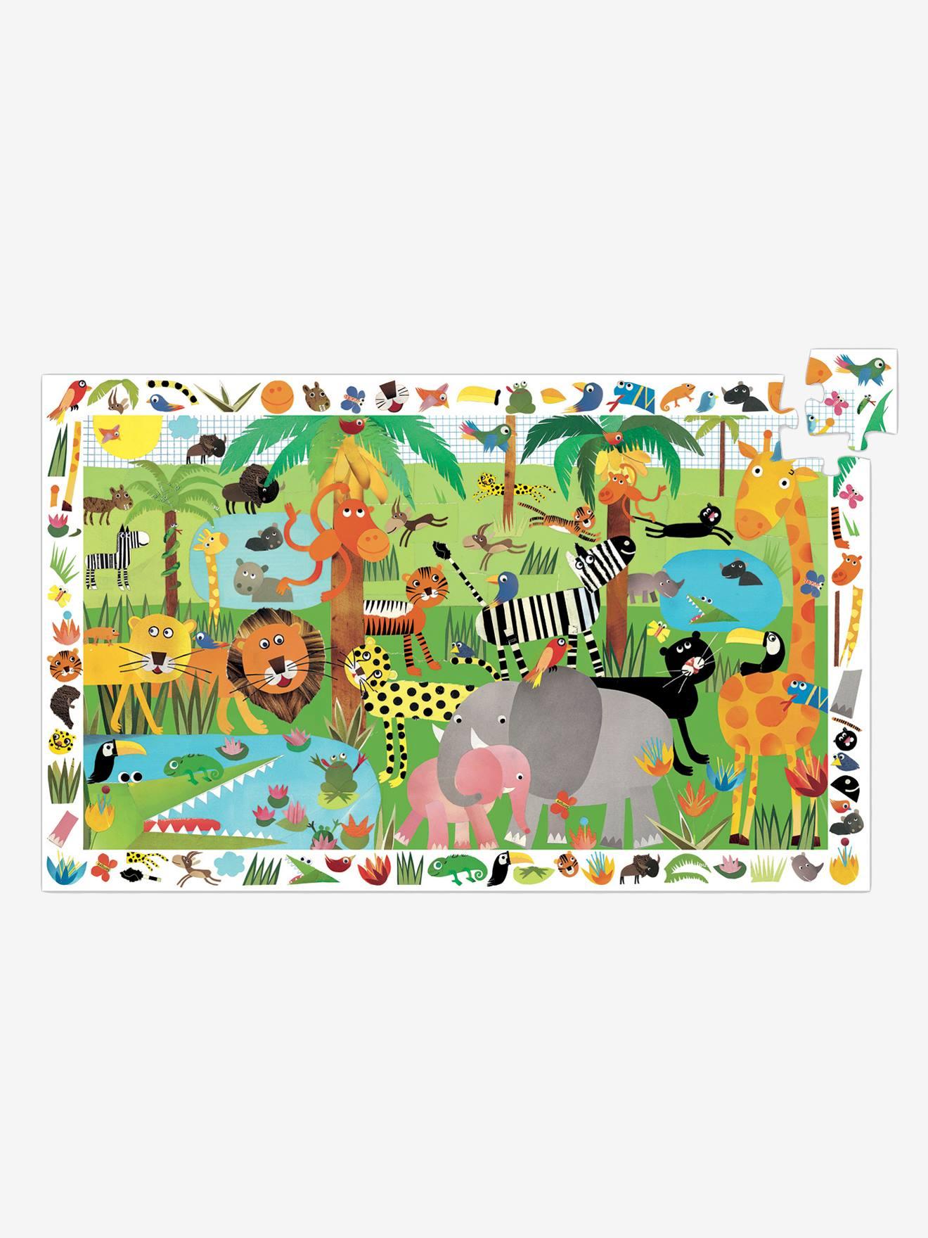 Puzzle observation La jungle 35 pièces DJECO multicolore