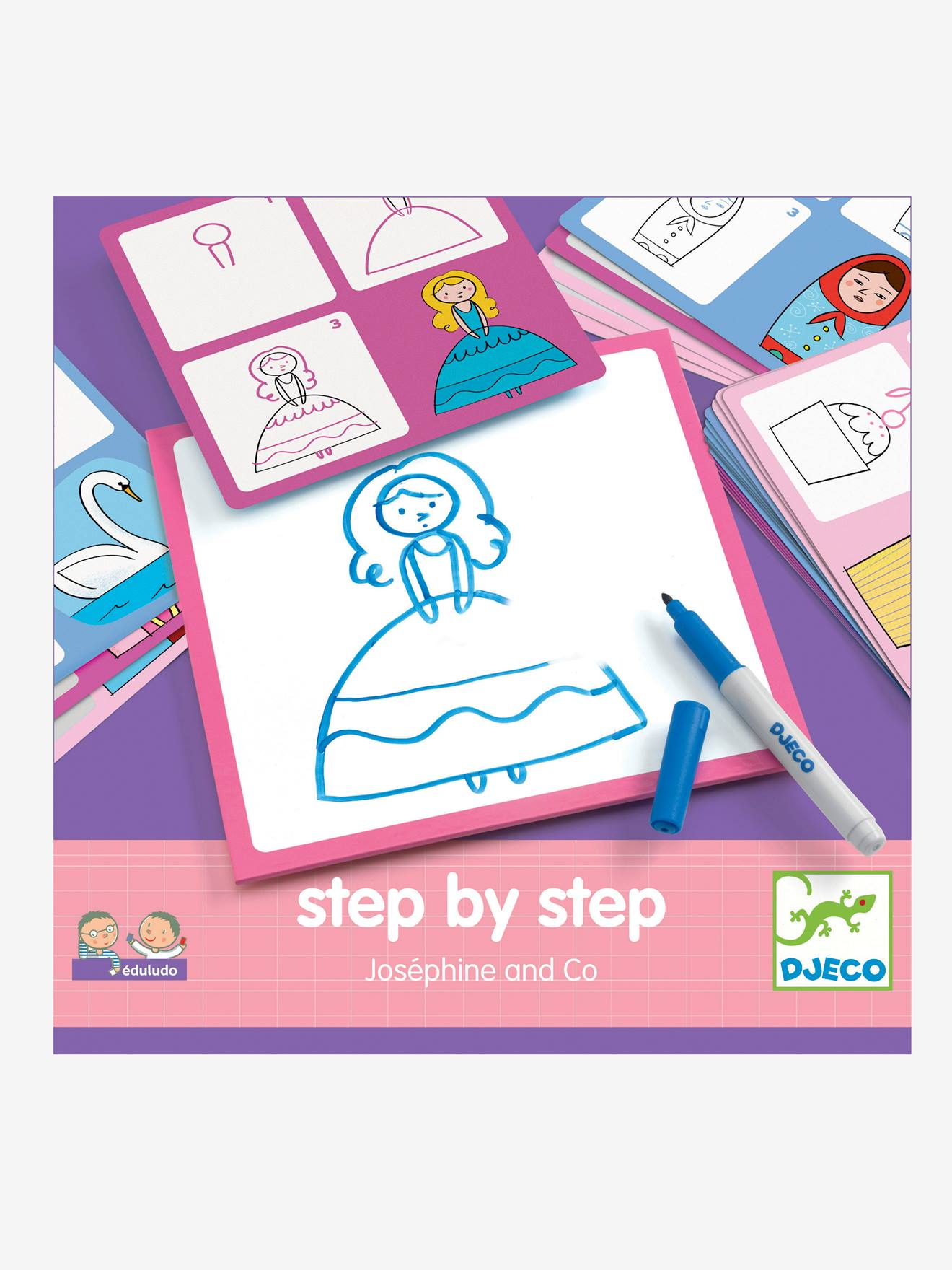 Step by step Joséphine DJECO multicolore