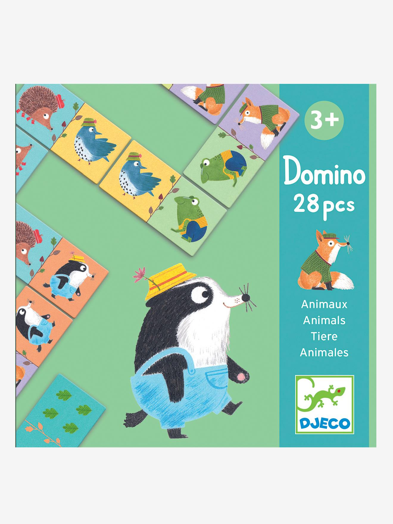 Dominos des animaux DJECO multicolore