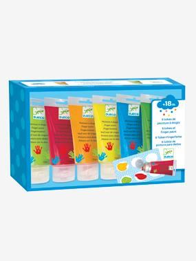 6 tubes de peintures à doigts DJECO multicolore